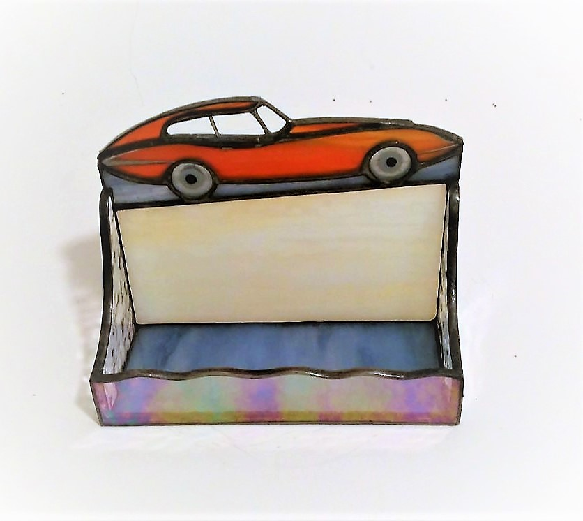Retro car stained glass business card holder nurin dize vitray retro car stained glass business card holder nurin dize vitray mozaik reheart Images