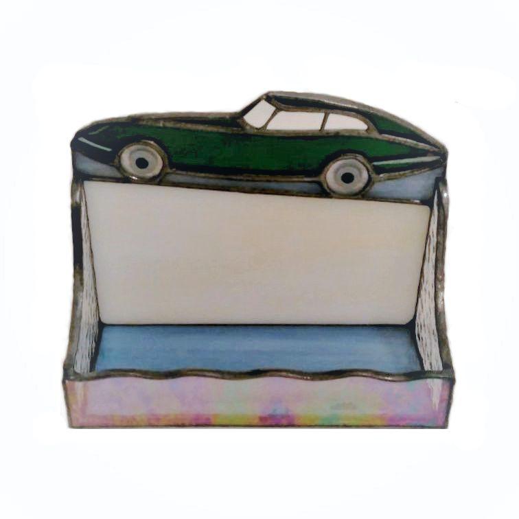 Retro Car Stained Glass Business Card Holder – Nurçin Dize Vitray ...