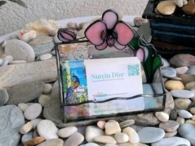 Orchid_Stained_Glass_Business_Card_ Holder5