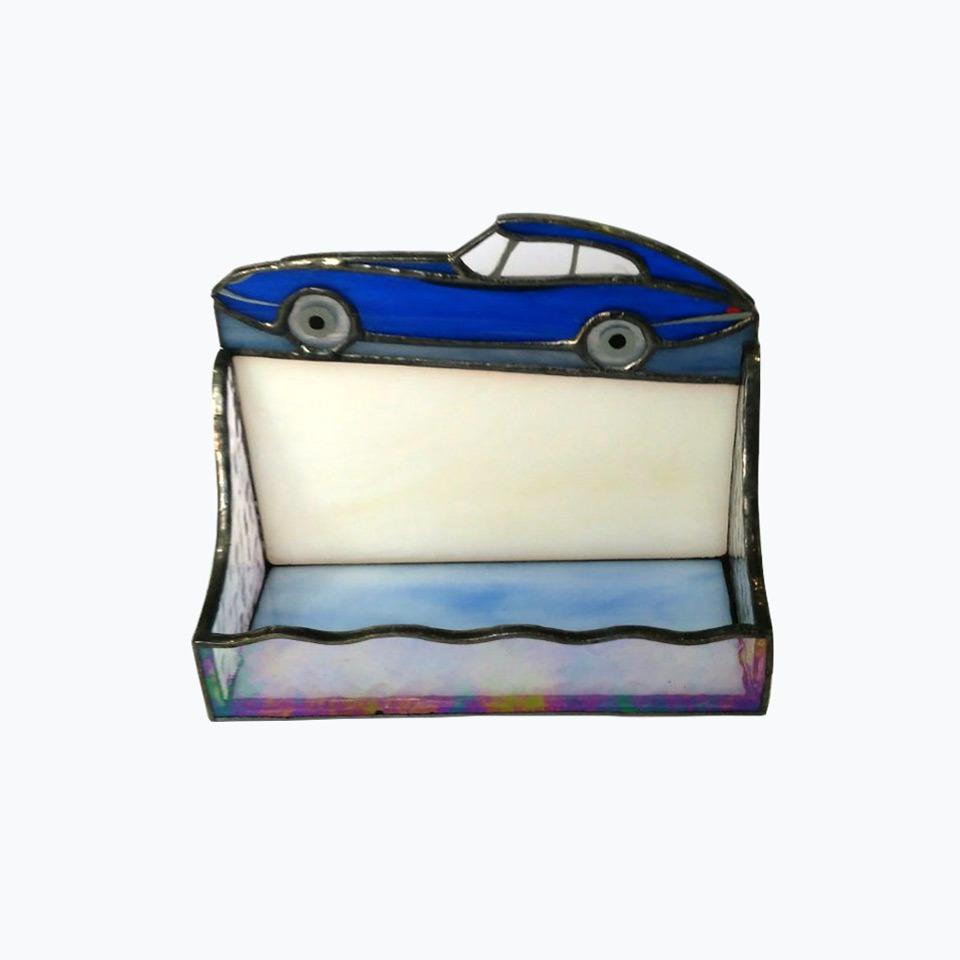 Retro Camera Stained Glass Card Holder – Nurçin Dize Vitray & Mozaik