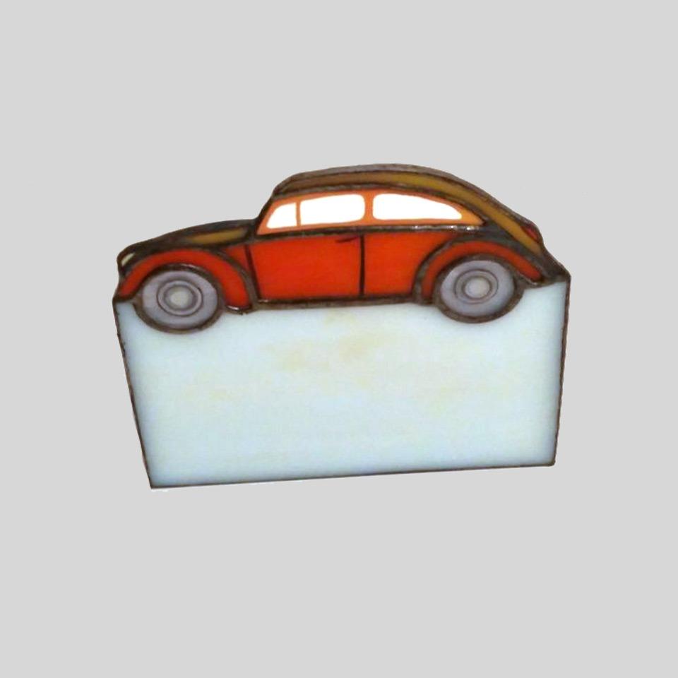 Vintage Car Stained Glass Business Card Holder – Nurçin Dize Vitray ...