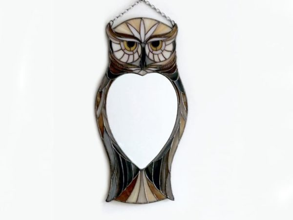 Owl-Stained Glass Mirror-3a