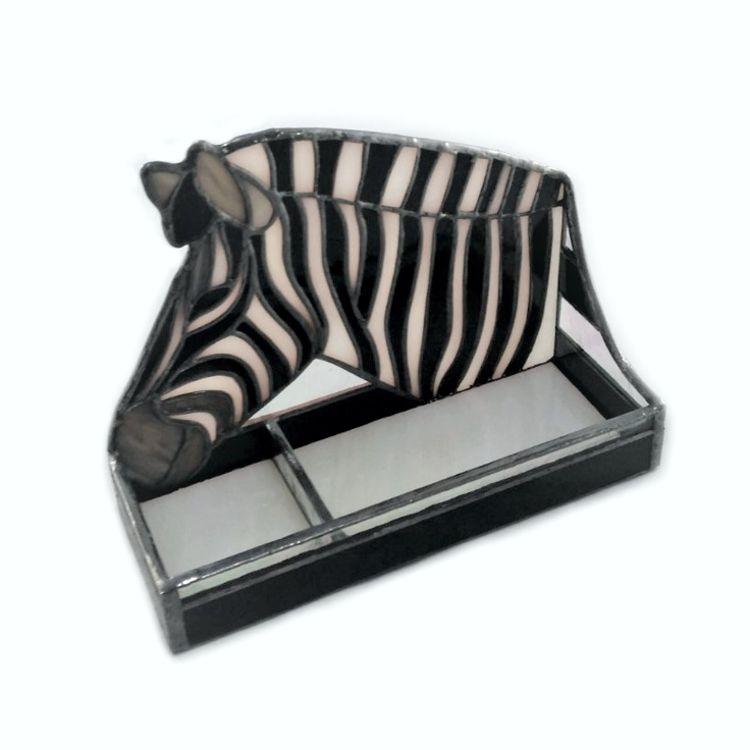 Zebra Stained Glass Business Card Holder – Nurçin Dize Vitray & Mozaik
