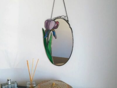 Sesame Flower_stained_glass_Mirror2
